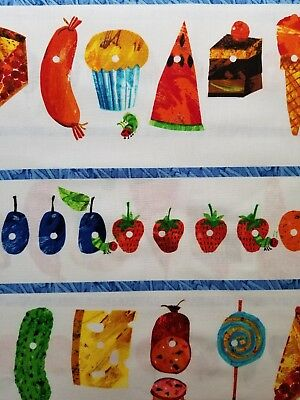 Andover Eric Carle The Very Hungry Caterpillar BThY Food Cotton Fabric
