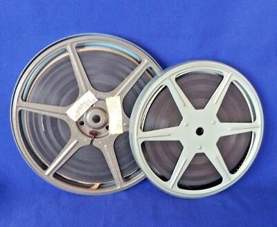 """(2) VINTAGE 8mm METAL 5 & 6""""  MOVIE PROJECTOR CANS/REELS 60""""S MOVIES FREE SHIP"""