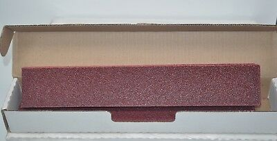 """2 Boxes of 25ea Carbo Red 40 E Grit 2-3/4"""" x 16-1/2"""" Grip-On File Sheets 21343"""