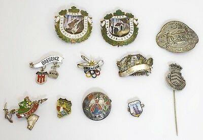 Various Vintage Medals From Eastern Europe Olympic Mountain Climbing Hero Pins