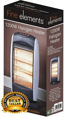 Halogen Patio Heater Electric Standing Garden Outdoor Carbon Oscillating Indoor
