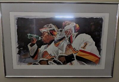 Vancouver canucks authentic print Kirk Mclean