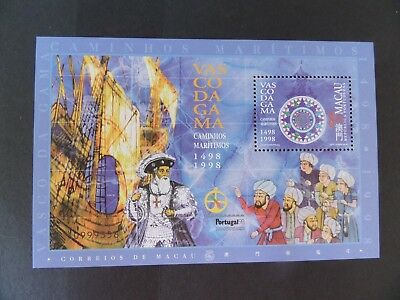 Macau Macao 1998 500th Ann Vacso Voyage 1498 ship MS1047 MNH unmounted mint UM