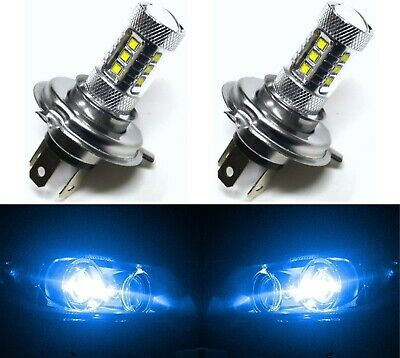 LED 80W 9003 HB2 H4 Blue 10000K Two Bulbs Head Light Replace Show Use Off Road