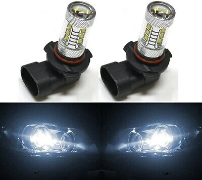 LED 80W 9012 HIR2 White 5000K Two Bulbs Head Light Replace Low Beam Show