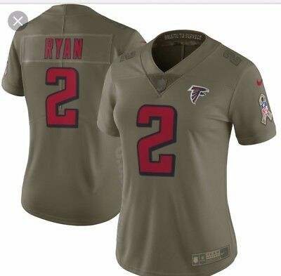 first rate 3a49c 44a99 NIKE MATT RYAN Jersey Salute To Service Womens Size XL Stitched Atlanta  Falcons