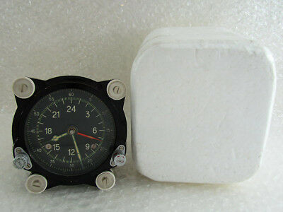 129-ChS 55M 24 Hours USSR Soviet Aircraft TU-134 MIG Helicopter Mi-9 Clock EXC!!