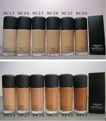 Brand New MAC Studio Fix Fluid SPF 15 Foundation 30ml Top Shades
