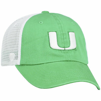 reputable site 2db9c 4c8ac Miami Hurricanes NCAA Adjustable Curved Bill Charm 1 Hat Cap Top of the  World