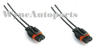 Pair of FOG LIGHT WIRING PIGTAILS Connectors Fits 94-04 Ford Mustang GT 5.0 4.6