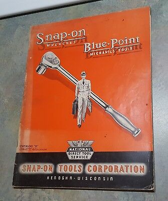 """Vintage  1941 Snap On Wrenches Blue Point Mechanics Tools Catalog """"o"""""""