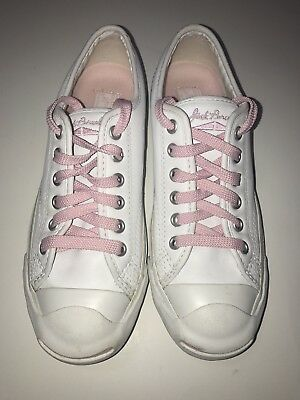 b0c2b2fda22 Converse Jack Purcell white leather women s 6.5 7 Canvas Low Top Sneakers  Shoes