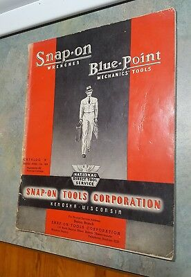 """Vintage 1939 Snap On Wrenches Blue Point Mechanics Tools Catalog """"n"""""""