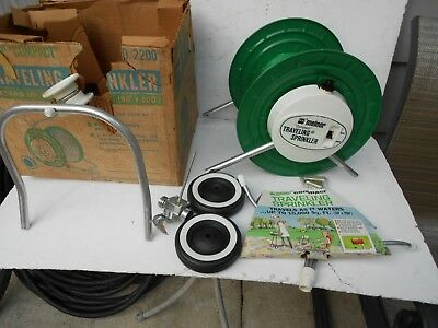 Vintage Melnor Compact Traveling Drum Sprinkler RARE Collectible New with Box