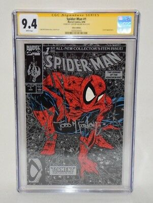 Todd Mcfarlane Signed Autographed Marvel Spider-Man #1 Torment Cgc 9.4 Silver