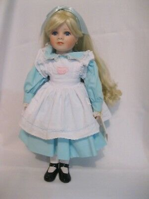 Marie Osmond Fairy Tale Porcelain doll  Alice in Wonderland used w/box