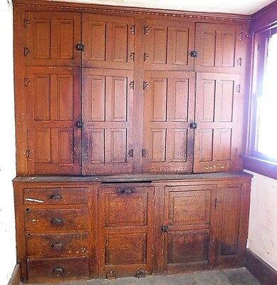 Antique Victorian Built-In Butler Pantry Cabinet - C. 1885 Architectural Salvage