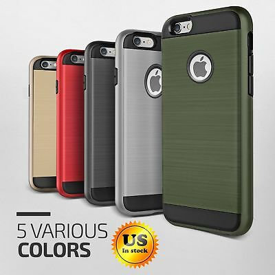 For Apple iPhone Slim Hard Hybrid Shockproof Protective Rugged Armor Case Cover
