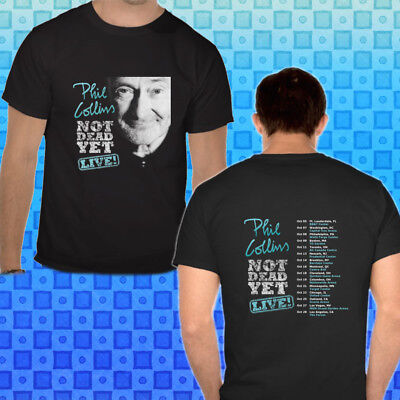 PHIL COLLINS NOT DEAD YET TOUR 2018 Men's BLACK Tee Shirt