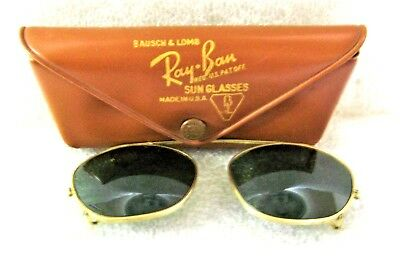 """Vintage Ray-Ban USA 1950s Bausch & Lomb Rare """"Clip-on"""" 48 *Nr.Mint Sunglasses"""
