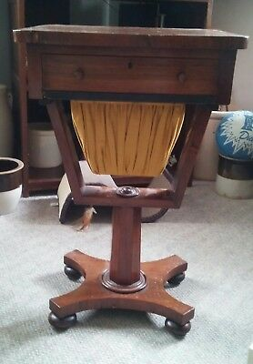 043 Antique Night Stand End Table Jewerly Drawer Slide Out Sewing Holder? Neat