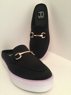 9fec50beeab9 Jeffrey Campbell Play Tico Black Slip On Comfortable Shoes Size 8M  NEW