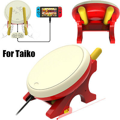 For Nintendo Switch Game Console Drum Controller Stick Set No Tatsujin for Taiko