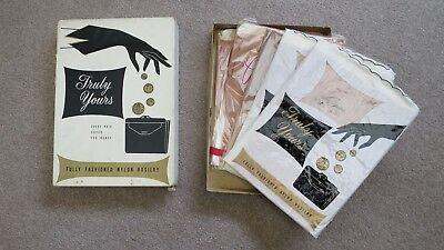 5 Pairs 1950's Vintage Fully Fashioned Stockings
