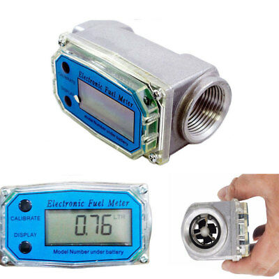 1'' Digital Turbine Gauge Flowmeter Kerosene For Diesel Water Fuel Flow Meter
