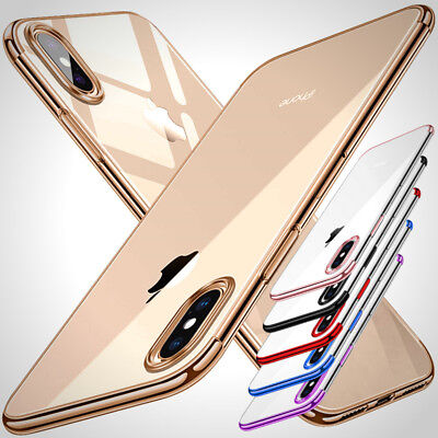 New For IPhone X XS MAX XR 8 7 6 Plus Soft TPU Thin Clear Shockproof Bumper Case