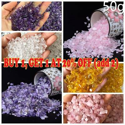 AAA Natural Pink Rose Quartz Crystal Stone Rock Chips Lucky Healing 50g New