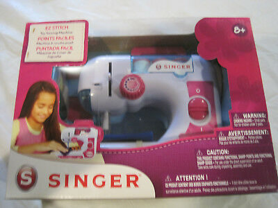 SINGER TOY EZ Stitch Chainstitch Sewing Machine Pink White New Extraordinary Singer Ez Stitch Toy Sewing Machine