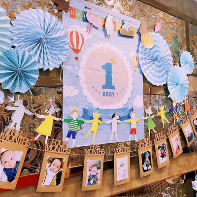 1Set Monthly Baby Photo Frame Birthday Party Hanging Picture Decorations
