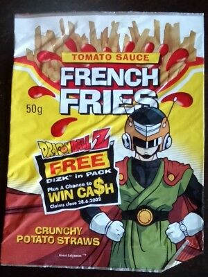 Collectable 'Dragon Ball Z' EMPTY CHIP PACKET - Tomato Sauce French Fries