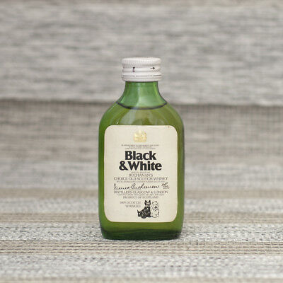 RARE Black & White 100% Scotch Whisky Miniature - Label does not state ABV & Vol