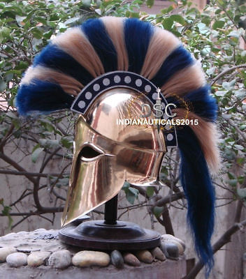 Copper Medieval Ancient Costume Armour Roman Greek Corinthian Helmet