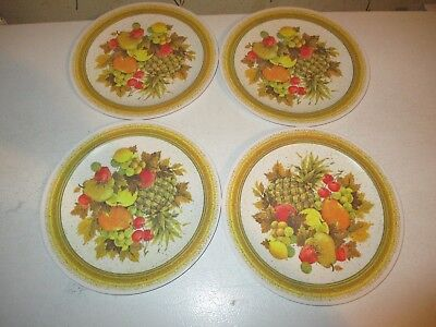 """4 NHP 10"""" Vintage National Home Products Artisan Ware Melamine / Melmac Plates"""