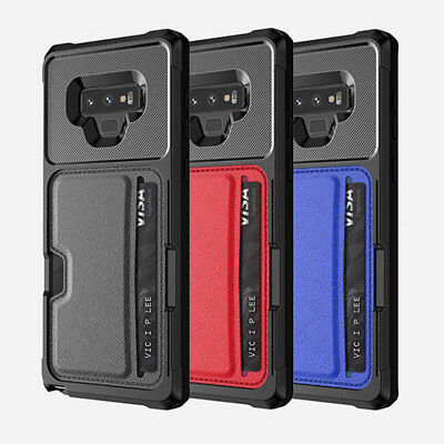 Luxury Shockproof Car Magnetic For Samsung Galaxy Note9 Card Portable Case Cover