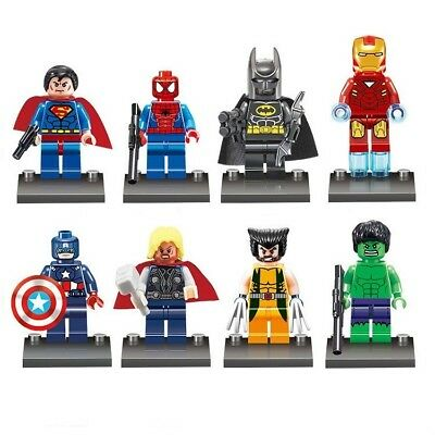 Marvel DC Super Hero Mini Figures with Accessories for Lego - Batman, Superman