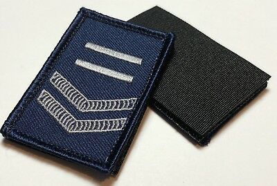 Police LBV Rank Patch #4, Blue, NSW, VIC, WA, QLD, SA, NT, Hook Rear