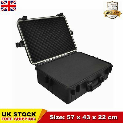 35 L Transport Hard Case Black Foam Travel Storage Box Protection Lockable CHIC