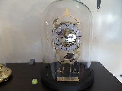 "Pro Clock Skeleton Clock ""002""  under glass dome made from an Ansonia movement"