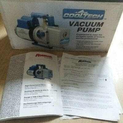 Robinair Cooltech 2 Stage Refrigeration/HVAC Vacuum Pump 240/110V