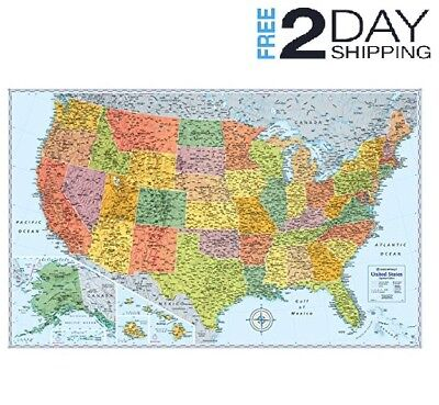 A Big Map Of The United States.2015 Rand Mcnally Usa Road Atlas Includes Mexico Canada