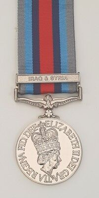 Full Size Operational Service Medal With Iraq & Syria Clasp Op Shader OSM