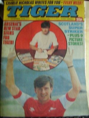Rare Tiger Comic 17Th September 1983 With Arsenal Charlie Nicholas Letter