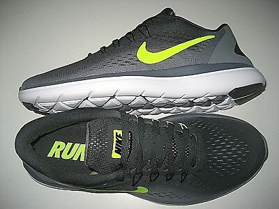 1a87237735e5c Nike Mens Flex 2017 RN Running Shoes Anthracite Grey Volt Size 11 898457  007 New