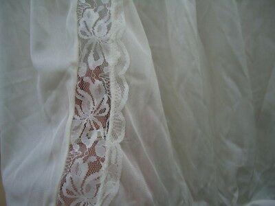 NOS Vtg Buttery Cream 14 Nylon Panties Lace USA Feminine W 29-56 Mushroom Gusset