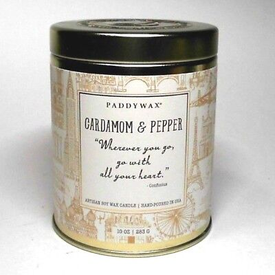 Lot 1 Paddywax Cardamom & Pepper Artisan Soy Wax Candle 10 Oz Hand Poured In Usa