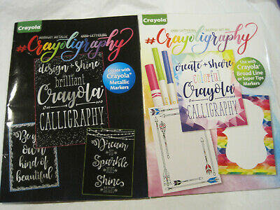 Lot 2~Crayoligraphy Hand Lettering by Crayola~Beginners Metallic~LBDMM